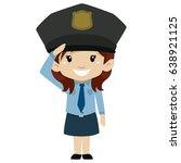 vector illustration of police... | Shutterstock .eps vector #638921125