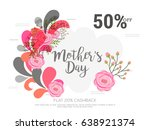 creative sale poster or sale... | Shutterstock .eps vector #638921374