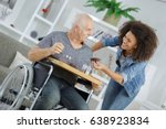 happy smiling senior man and... | Shutterstock . vector #638923834