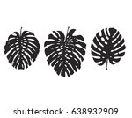 tropical plant leaves vector... | Shutterstock .eps vector #638932909