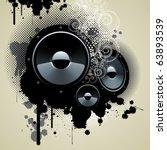grunge speakers.   Shutterstock .eps vector #63893539
