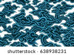 batik painting of java... | Shutterstock .eps vector #638938231