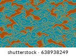 batik painting of java... | Shutterstock .eps vector #638938249