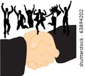 handling and people | Shutterstock .eps vector #63894202