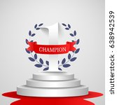 1st place champion concepted... | Shutterstock .eps vector #638942539