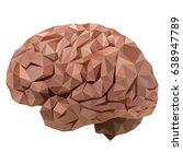 the human brain  original ... | Shutterstock .eps vector #638947789