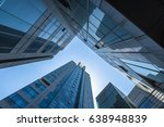bottom view of modern office... | Shutterstock . vector #638948839