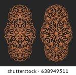 laser cutting set. wall panels. ... | Shutterstock .eps vector #638949511