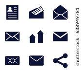 send icons set. set of 9 send...   Shutterstock .eps vector #638949781