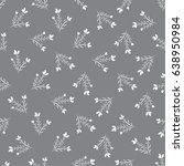 seamless pattern with flowers.... | Shutterstock .eps vector #638950984