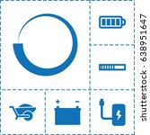 load icon. set of 6 load filled ... | Shutterstock .eps vector #638951647