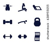 gym icons set. set of 9 gym... | Shutterstock .eps vector #638955055