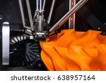 3d printing technology  three... | Shutterstock . vector #638957164