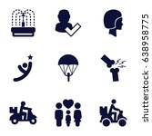 Person Icons Set. Set Of 9...