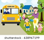 Children Going To School With...