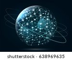 global network connection.... | Shutterstock .eps vector #638969635
