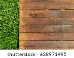 A Wooden Board On Green Grass ...