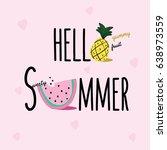 summer slogan illustration... | Shutterstock .eps vector #638973559