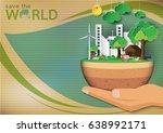 green eco concept background... | Shutterstock .eps vector #638992171