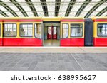 germany red train wagon with an ... | Shutterstock . vector #638995627
