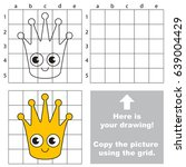 copy the picture using grid... | Shutterstock .eps vector #639004429