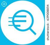 magnifier zoom line vector icon | Shutterstock .eps vector #639008854
