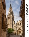 cathedral in the medieval city... | Shutterstock . vector #639024085