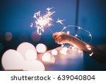sparklers bokeh background...   Shutterstock . vector #639040804
