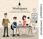 workplace of the designer.... | Shutterstock .eps vector #639044011