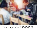 video camera taking live video... | Shutterstock . vector #639050521