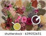 ingredients for skin care... | Shutterstock . vector #639052651