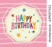 birthday card design vector | Shutterstock .eps vector #639057421
