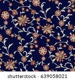floral oriental ethnic... | Shutterstock .eps vector #639058021