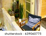 modern interior of terrace for... | Shutterstock . vector #639060775