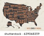 united  states of america map... | Shutterstock .eps vector #639068359