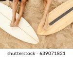 beautiful long legs of two... | Shutterstock . vector #639071821