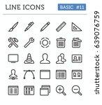 vector line icons for... | Shutterstock .eps vector #639076759