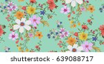 seamless floral pattern in... | Shutterstock .eps vector #639088717