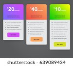 web pricing table design for... | Shutterstock .eps vector #639089434