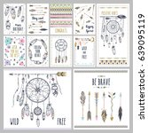 card template collection for... | Shutterstock .eps vector #639095119