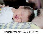 newborn baby happy smiling... | Shutterstock . vector #639110299
