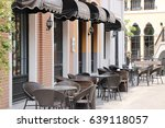 outside restaurant  brow tone. | Shutterstock . vector #639118057