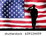 silhouette of a solider... | Shutterstock . vector #639124459