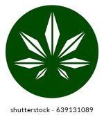 cannabis leaf icon | Shutterstock .eps vector #639131089
