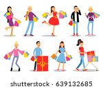 shopping people vector concepts.... | Shutterstock .eps vector #639132685