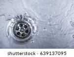 sink  drain and flowing water... | Shutterstock . vector #639137095