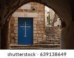 doors of the church in stone...   Shutterstock . vector #639138649