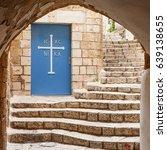 doors of the church in stone... | Shutterstock . vector #639138655