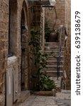 stone old city jaffa in tel aviv   Shutterstock . vector #639138679