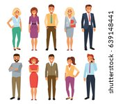 group of business men and women ... | Shutterstock .eps vector #639148441
